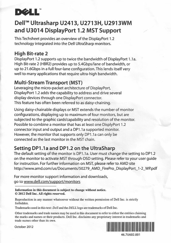 2013 - The Year of DisplayPort MST   WSGF